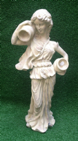 Cream Grecian Lady with Urn Garden Pond Water Feature Statue